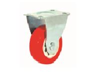 BÁNH XE NHỰA PVC ĐỎ- KHÔNG VÒNG BI - CỐ ĐỊNH