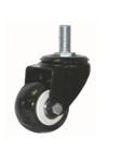 BLACK PVC CASTER (THREADED STEM)